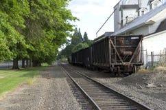 Oude spoorweg oude stad Amerika Royalty-vrije Stock Afbeeldingen