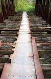 Oude spoorwegbrug stock afbeelding