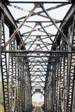 Oude spoorwegbrug. Stock Fotografie