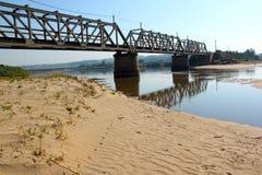 Oude Spoorwegbrug die Lagune kruisen Royalty-vrije Stock Fotografie