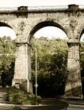 Oude spoorwegbrug, Praag Royalty-vrije Stock Afbeelding