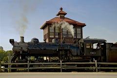 Oude spoorwegmotor royalty-vrije stock foto's
