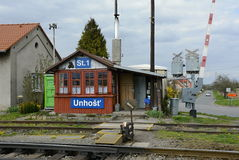 Oude Spoorwegpost, Tsjechische Republiek, Europa Royalty-vrije Stock Foto's