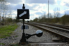 Oude Spoorwegschakelaar Behandeling, Tsjechische Republiek, Europa Stock Foto
