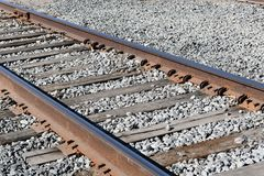 Oude spoorwegsporen De Treinspoor van de spoorweg royalty-vrije stock foto