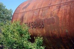 Oude spoorwegtank voor vervoer van minerale olie Royalty-vrije Stock Afbeelding