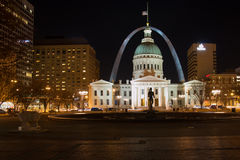 Oude St Louis County Courthouse - St Louis Arch Royalty-vrije Stock Afbeelding