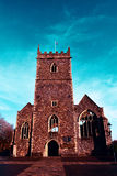 Oude St Peter Kerkruïnes in Kasteelpark, Bristol, Engeland stock afbeelding