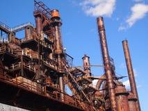 Oude staalfabriek Royalty-vrije Stock Foto's