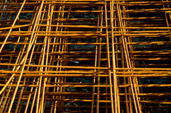 Oude staalstaaf Royalty-vrije Stock Afbeeldingen