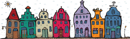 Oude Stad Royalty-vrije Illustratie