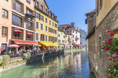 Oude stad Annecy Stock Foto's