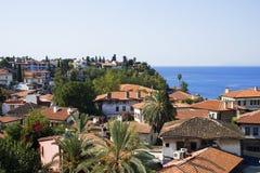 Oude stad in Antalya stock afbeeldingen