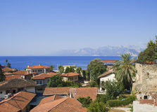 Oude stad in Antalya Stock Foto