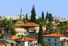 Oude stad in Antalya. Turkije Royalty-vrije Stock Foto's