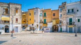 Oude stad in Bari, Apulia, zuidelijk Italië stock foto