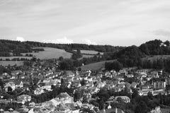 Oude stad in bergen Stock Foto's