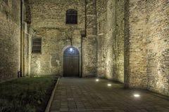Oude stad bij nacht - Gdansk, Polen Royalty-vrije Stock Foto's