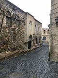 Oude stad in de ochtend stock foto