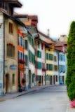 Oude stad in de zomer van 2014 Schweiz Royalty-vrije Stock Afbeeldingen