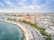 Oude stad door het overzees, Bari, Puglia, Italië royalty-vrije stock afbeeldingen