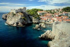 Oude Stad Dubrovnik Stock Foto's