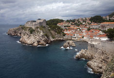 Oude Stad Dubrovnik Kroatië Stock Afbeeldingen