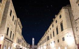 Oude stad Dubrovnik, Stradun Stock Fotografie