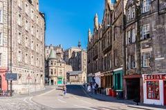 Oude stad in Edinburgh, Schotland royalty-vrije stock fotografie