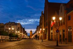 Oude stad in Elblag royalty-vrije stock afbeeldingen