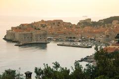 Oude stad en haven dubrovnik Kroatië Stock Afbeeldingen