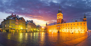 Oude Stad en Koninklijk Kasteel in Warshau, Polen royalty-vrije stock foto