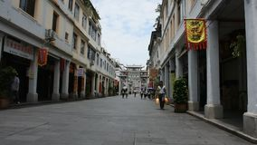 Oude stad en oud stadscentrum van Chaozhou in Teochew in Guangdong, China stock video