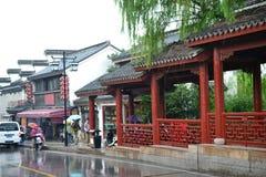 Oude stad en tuinen van Suzhou, Zhejiang, China, Chinese waterstad royalty-vrije stock fotografie