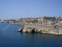 Oude stad en vesting van La Valletta op Malta Stock Afbeeldingen