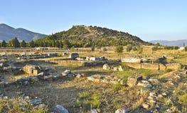 Oude stad in Eretria Euboea Griekenland Stock Afbeeldingen