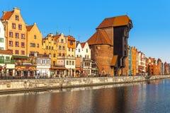 Oude stad in Gdansk royalty-vrije stock afbeelding