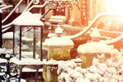 Oude Stad in Gdansk tijdens de Winter royalty-vrije stock afbeeldingen