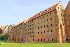 Oude stad in Grudziadz Royalty-vrije Stock Foto's
