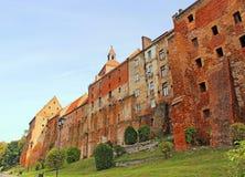 Oude stad in Grudziadz Stock Foto