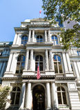 Oude Stad Hall Building in Boston Royalty-vrije Stock Fotografie