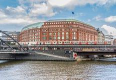 Oude Stad Hamburg, een Unesco-Plaats van de Werelderfenis royalty-vrije stock foto