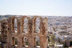 Oude stad in het Griekse kapitaal van geschiedenis Stock Afbeeldingen