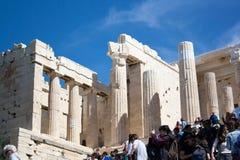 Oude stad in het Griekse kapitaal van geschiedenis Stock Foto