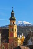 Oude stad in Innsbruck Oostenrijk Stock Foto's