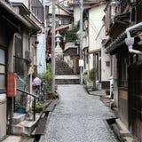 Oude stad in Japan royalty-vrije stock afbeeldingen