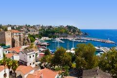 Oude stad Kaleici in Antalya, Turkije Stock Afbeelding