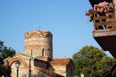 oude stad, kerk, Nessebar, Bulgarije royalty-vrije stock foto