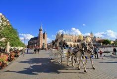 Oude Stad in Krakau Royalty-vrije Stock Foto
