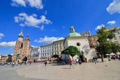 Oude stad in Krakau, Polen Stock Foto's